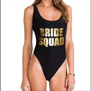 Other - Bride squad swimsuit